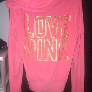 Victoria's Secret terry cloth zip up